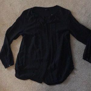 Babaton 100% Black Silk Blouse